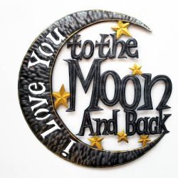 I Love You to the Moon Wall Art