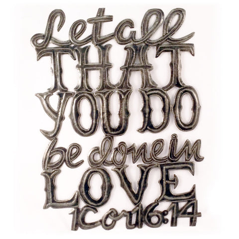 Let All Love Metal Wall Art