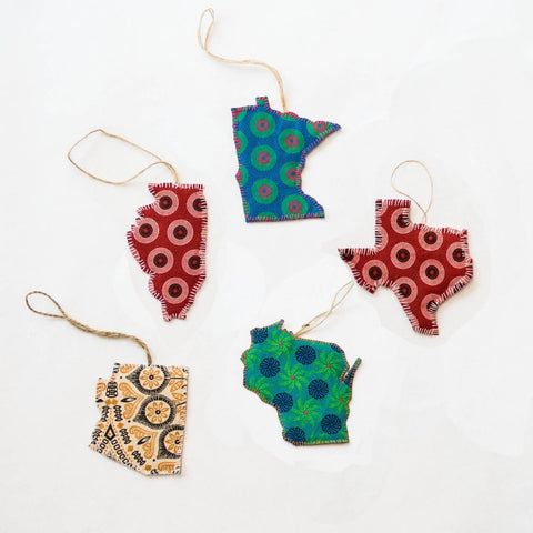 Handsewn State Ornaments