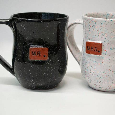 Haitian Clay Mug - Mr. and Mrs.