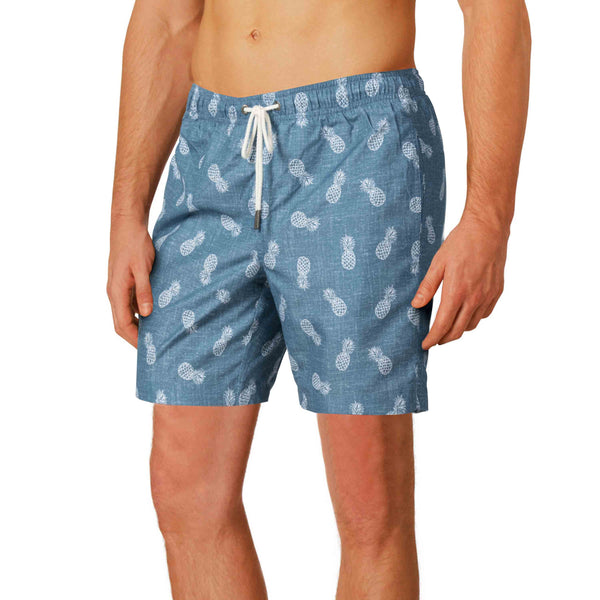 "Cabo 6.5"" Denim Pineapples"