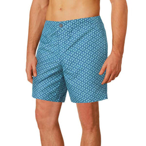 designer mens swim shorts blue green