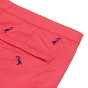 coral red slim fit boardshorts boto