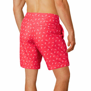 "Aruba 8.5"" Red Lobsters Swim Trunks"