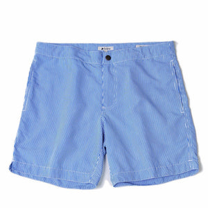 striped blue board short
