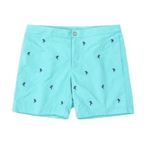 turquoise palm trees swim suit boto