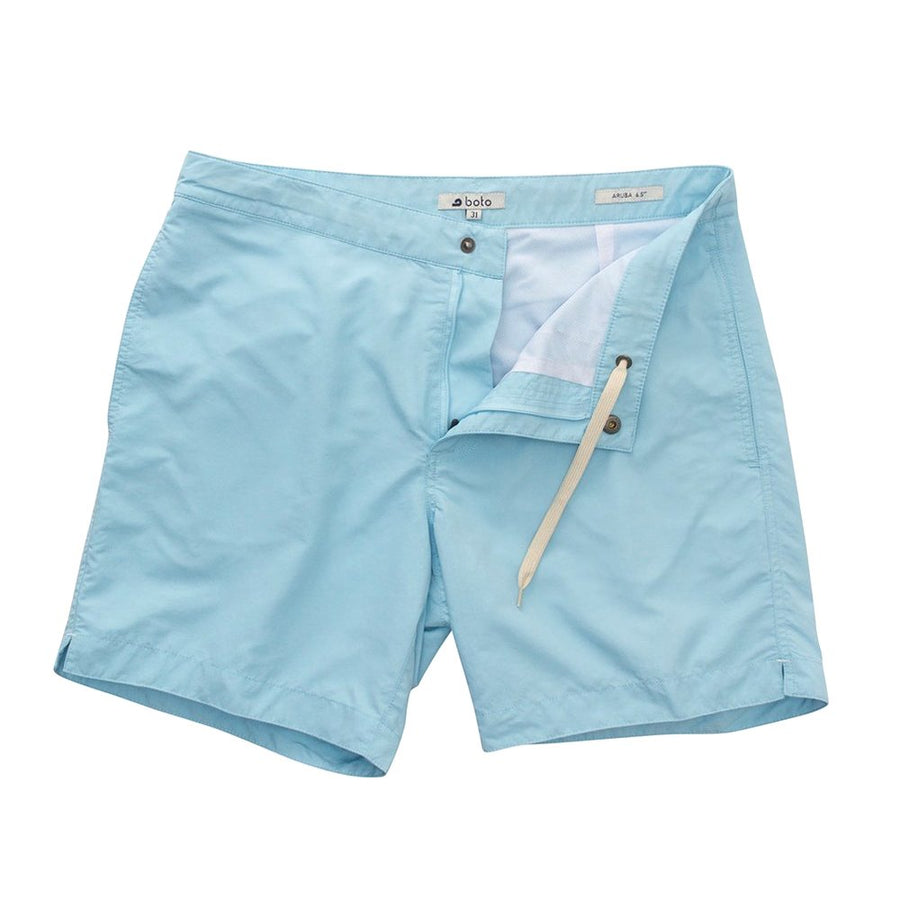 "Aruba 6.5"" Aqua Blue Swim Trunks"