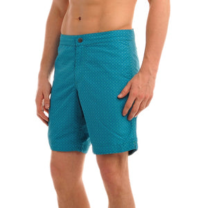 "Aruba 8.5"" Mosaic Blue / Green Swim Trunks"
