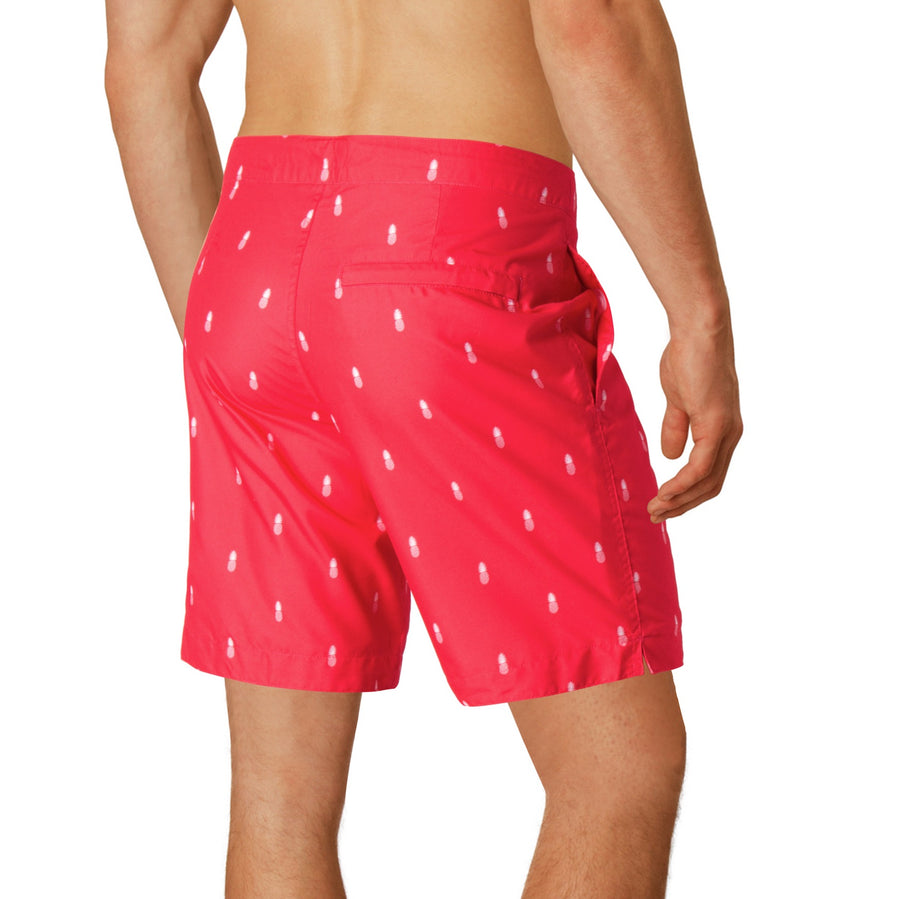 mens mid length boardshorts red boto