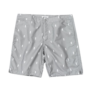 "Aruba 8.5"" Grey Pineapples Swim Trunks"