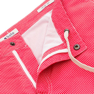"Rio 6.5"" Coral Checks w. Boto Pouch Lining Swim Trunks"