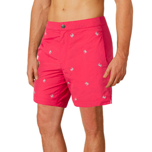 coral red swim shorts boto