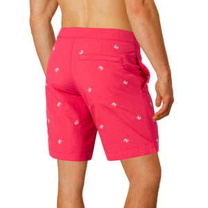 mens red slim fit boardshorts