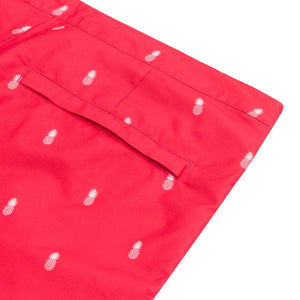 coral red swim shorts