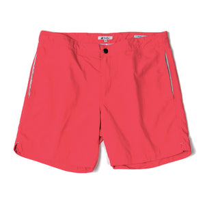 mens designer shorts coral red