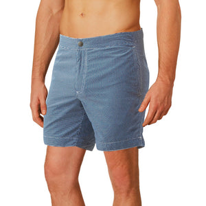 blue checks swim trunks boto