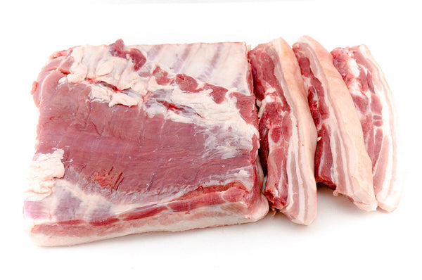 Pork Belly Slices - 4 slices per pack. Approx, 850g
