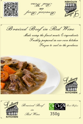'A-la-Carte' Braised Beef in Red Wine Ready Meal