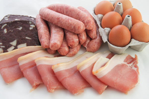Breakfast Meat Hamper for up to 8 people. That's  only £2.63 per Person! Was £21.00, now £18.90