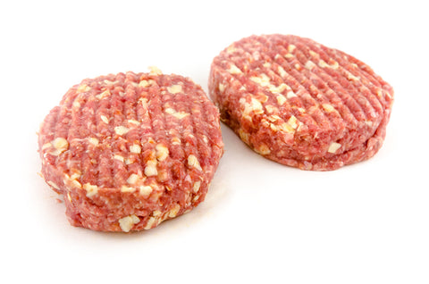 Beef 'Cheese' Burgers 2 x 180g Burgers per pack
