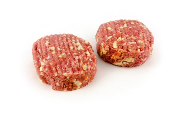 Beef 'Cheese' Burgers 2 x 220g Burgers