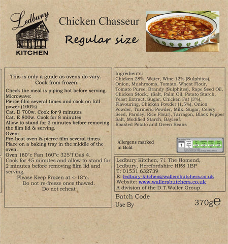 Classic Ready Meal. Chicken Chasseur