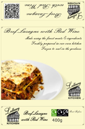 'A-la-Carte' Beef Lasagne with Red Wine Ready Meal