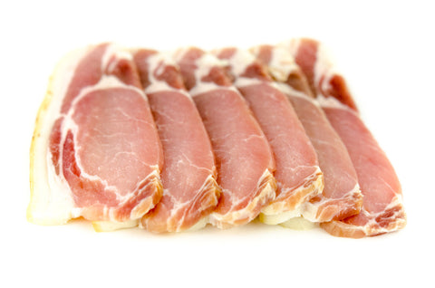 Dry Cured Plain Bacon. 6 slices per Pack approx 250g