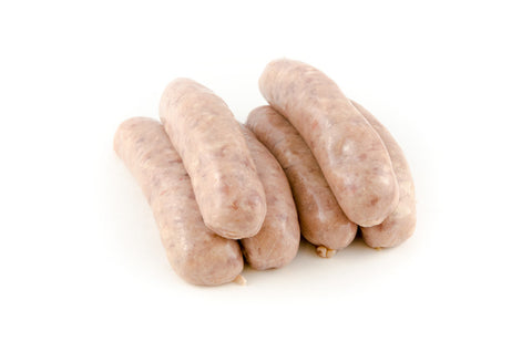 Pork, Apple & Wilces Ledbury Cider Sausage. 6 per Pack