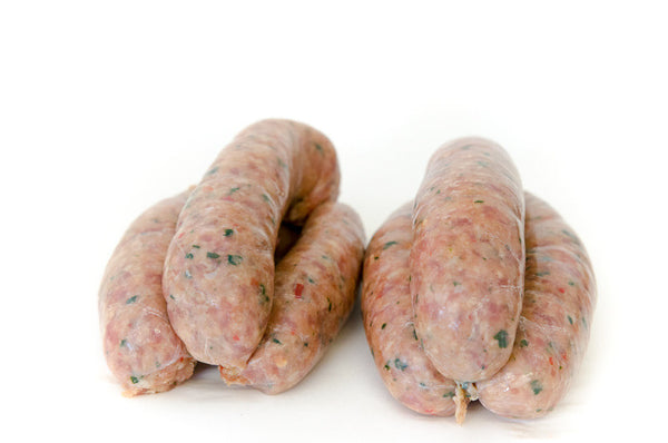 Pork, Chilli and Spinach Sausage