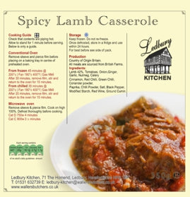 'A-la-Carte' Spicy Lamb Casserole Ready Meal