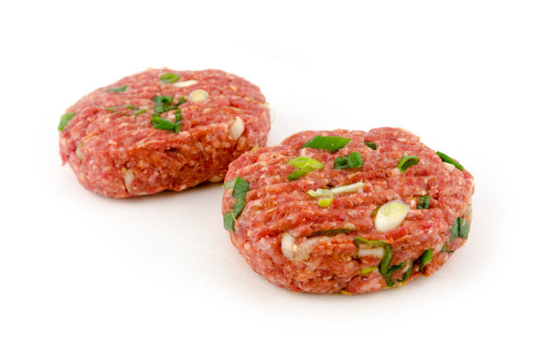 Traditional Beef Burgers (with Spring Onion)
