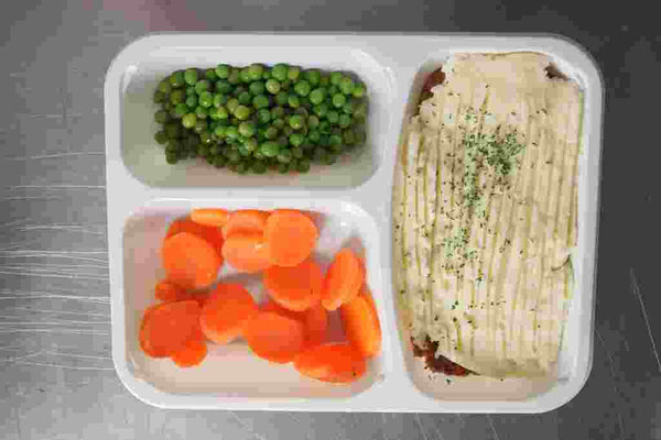 Classic Cottage Pie with Carrots and Peas
