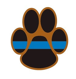 K9 Decal with Thin Blue Line