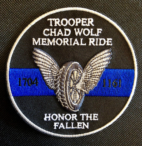 Wolf Memorial Ride Patch
