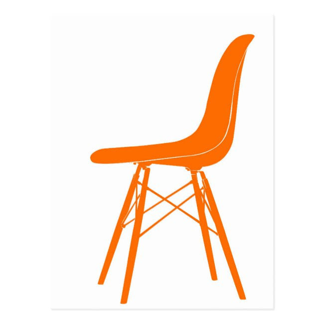 Postcard Eames Molded Plastic Side Chair