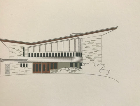 Greeting Card, Mid Century Modern Architecture, Frank Lloyd Wright—architect, S. P. Elam Residence
