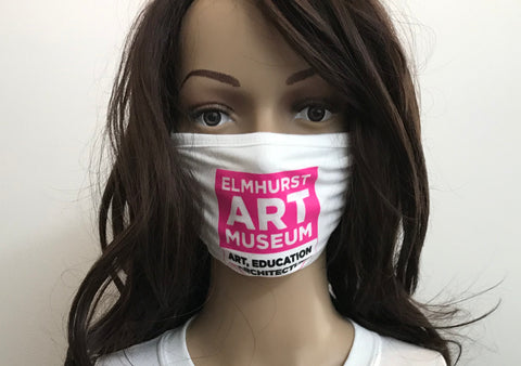 Mask featuring the Elmhurst Art Museum Logo