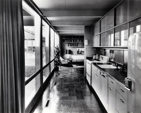 Postcard, Mies van der Rohe, McCormick House kitchen, c. 1952
