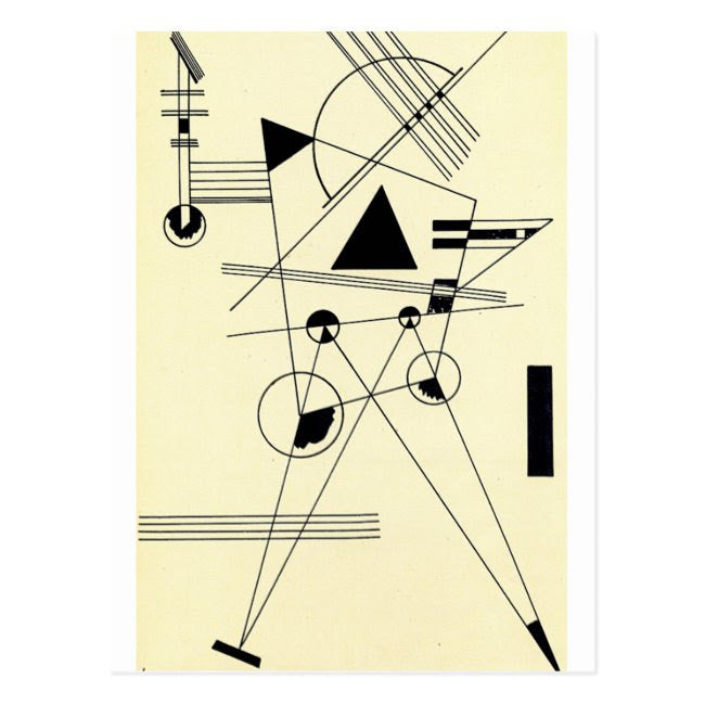 Postcard Kandinsky Drawing