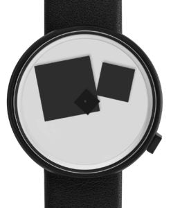 Projects Watches, Bauhaus Black Black, 40 mm Blk Lthr Band