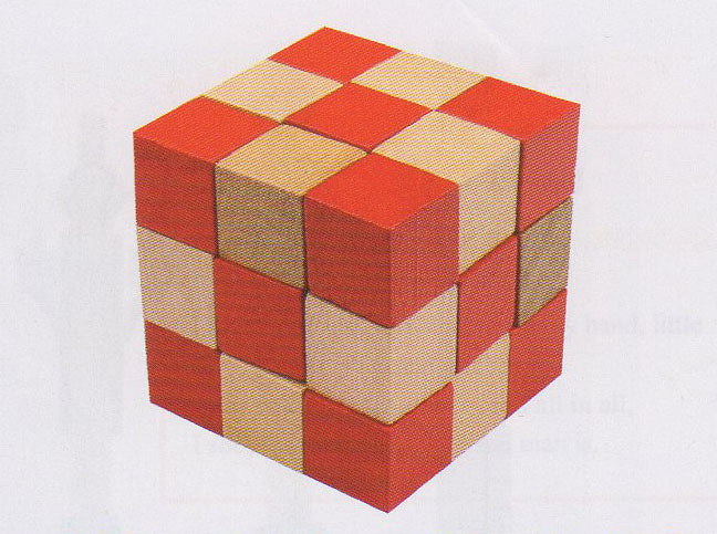 Frank Lloyd Wright:  3D Block Puzzle - Red Cube