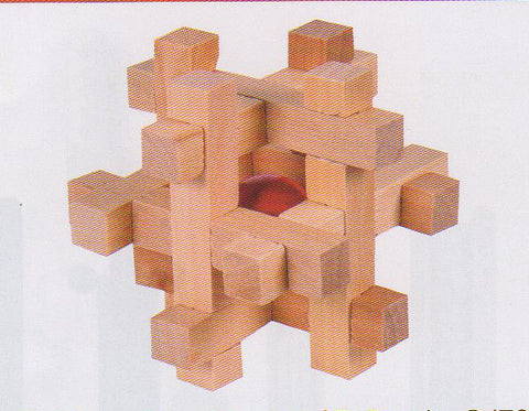 Frank Lloyd Wright:  3D Block Puzzle - Square
