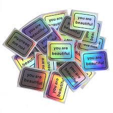 You Are Beautiful Sticker, Holographic Classic