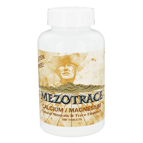 Mezotrace - Calcium/Magnesium Natural Minerals & Trace Elements - 180 tabs