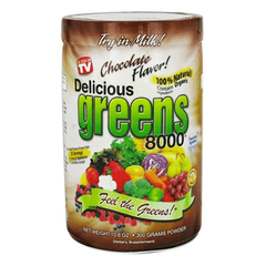 Greens World - Delicious Greens 8000 - 10.6oz - Chocolate