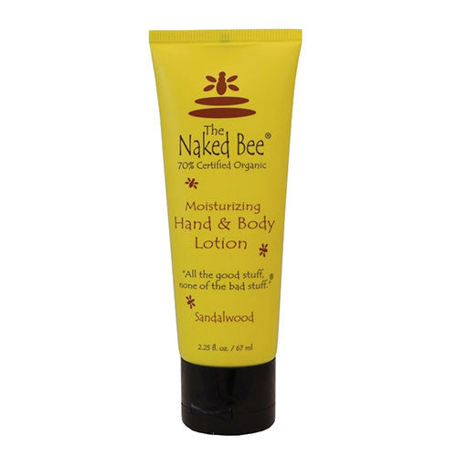 The Naked Bee - Sandalwood Moisturizing Hand & Body Lotion Tube - 2.25oz