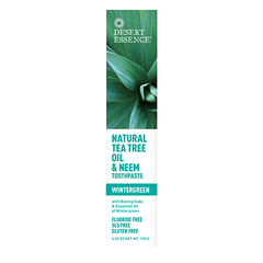 Desert Essence - Natural Tea Tree Oil & Neem Toothpaste - Wintergreen - 7oz