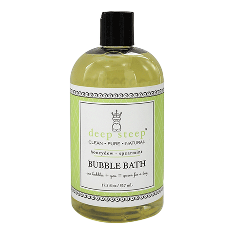 Deep Steep - Natural Bubble Bath - Honeydew Spearmint - 17.5oz