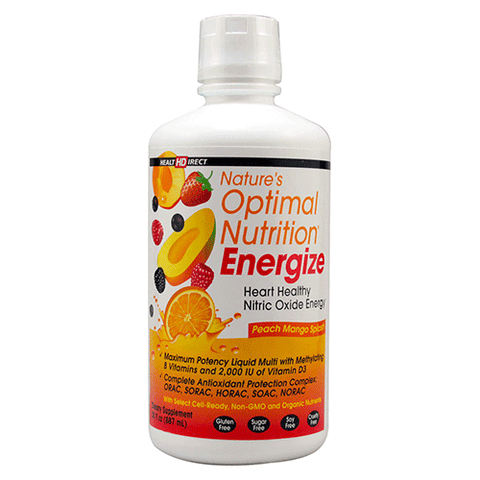 Health Direct - Nature's Optimal Nutrition Energize - Peach Mango Splash - 30oz